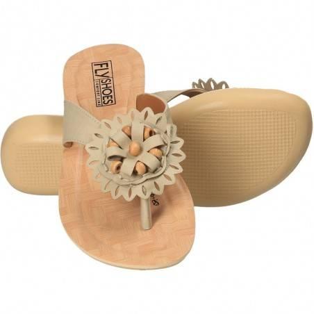 Slapi flip-flops, pentru femei, culoarea bej