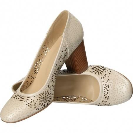 Pantofi din piele naturala, pentru femei, marca Momaris
