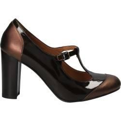Pantofi lac maro elegant, din piele naturala