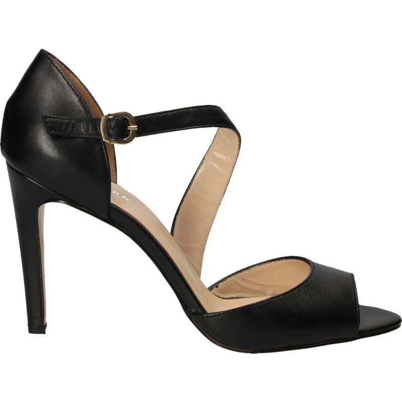 Sandale de gala din piele naturala, culoarea neagra
