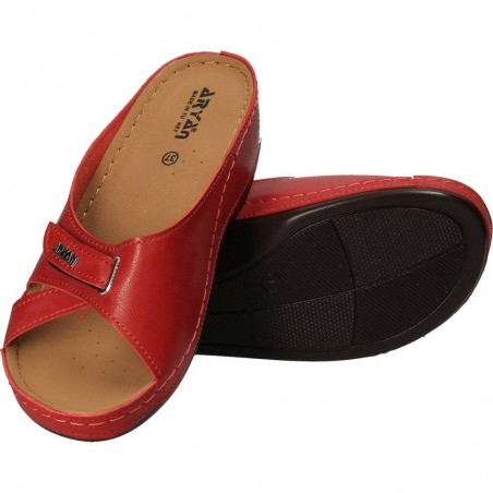 Saboti de dama rosii, casual, marca Aryan