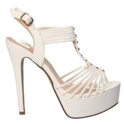 Sandale albe fashion, pentru femei, marca Tulipano