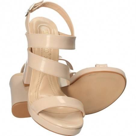 Sandale de lac, bej, de gala, Merry Pace