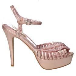 Sandale de gala, roz, cu platforma si toc