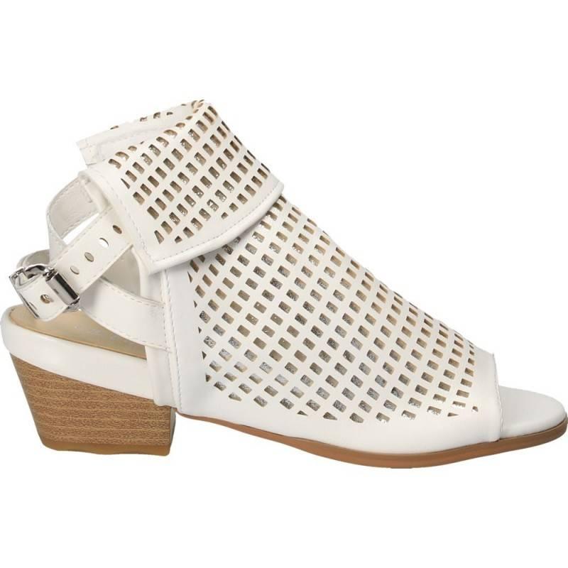 Sandale fashion, albe inalte, pentru femei