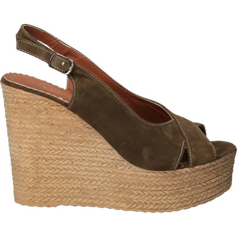 Sandale cu platforma, marca Ventes, kaki