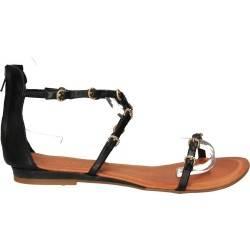Sandale negre pentru femei, casual