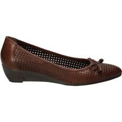 Pantofi de dama perforati, din piele naturala, tip casual