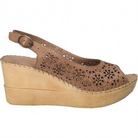 Sandale Dama, piele naturala, cu platforma