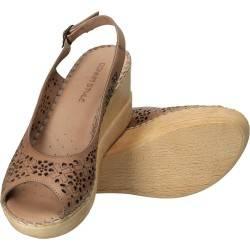 Sandale Donna Style, de dama, cu platforma, piele naturala