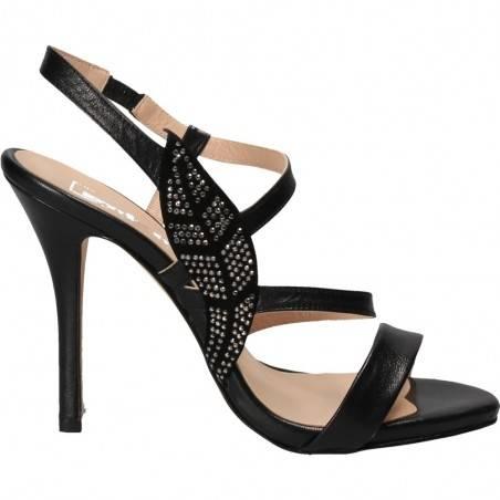 Sandale stiletto fashion, de gala, culoarea neagra