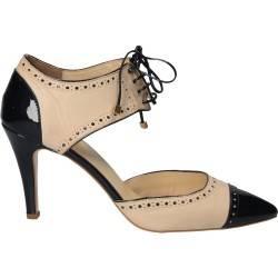 Pantofi Oxford Fashion, de dama, piele naturala