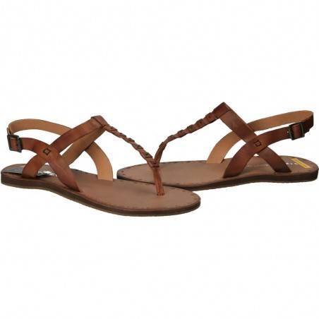 Sandale flip-flops, de dama, din piele naturala