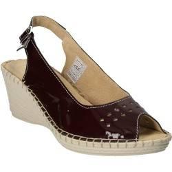 Sandale clasice din piele lacuita, cu platforma