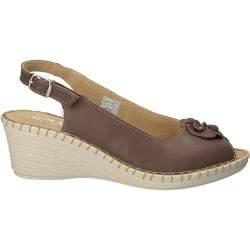 Sandale cu floare, din piele naturala, Natur Soft