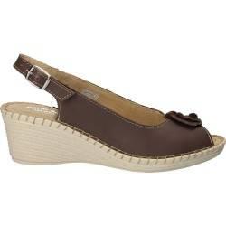 Sandale din piele, Natur Soft, culoarea maro