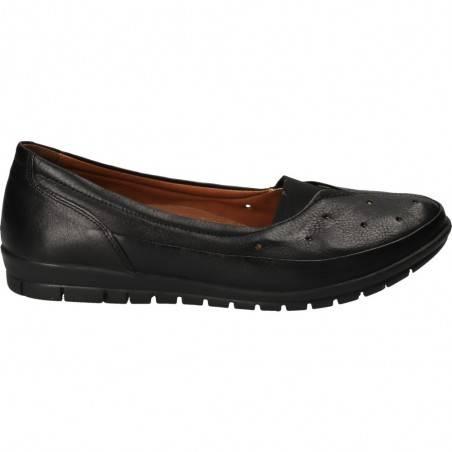 Pantofi casual negri, piele naturala, marca Da Vinci
