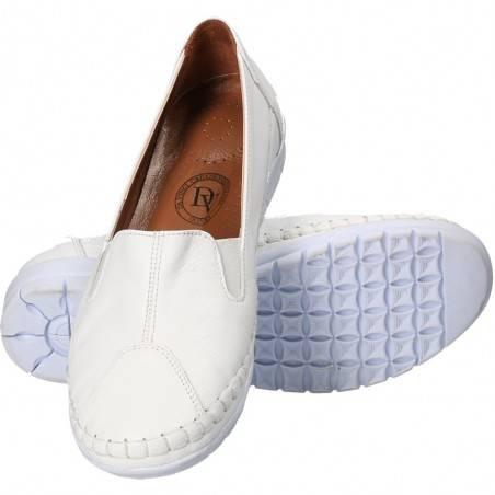 Pantofi albi, din piele naturala, marca Da Vinci