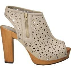 Sandale moderne, bej, din piele naturala