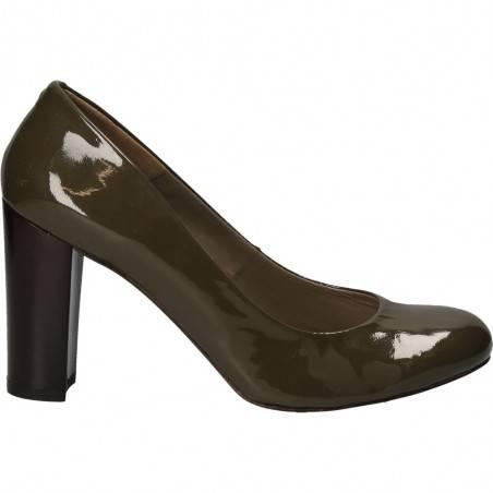 Pantofi toc block, inalt, piele naturala