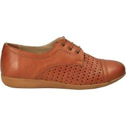 Pantofi casual clasic, perforati, piele naturala