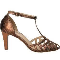 Pantofi decupati, de dama, din piele naturala