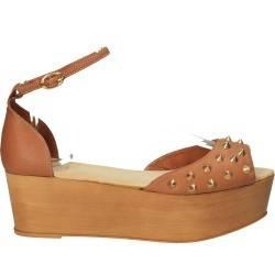Sandale cu ținte conice, trendy, din piele naturală