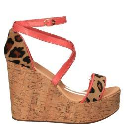 Sandale leopard fashion, platforma, piele naturala