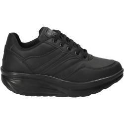 Pantofi cu talpa inalta, casual negri, pentru femei