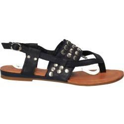 Sandale din piele, flip-flops, de dama, albastri