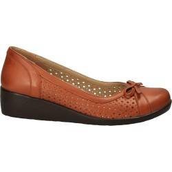 Pantofi maro clasici din piele naturala, marca Ayakkabi