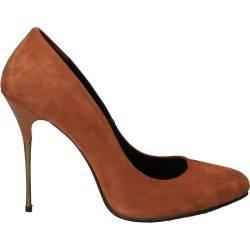 Pantofi de lux stiletto, maro, de dama
