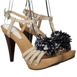 Sandale glamour, din piele naturala, culoarea bej