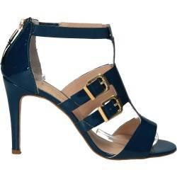 Sandale fashion, din lac, piele ecologica, pentru femei