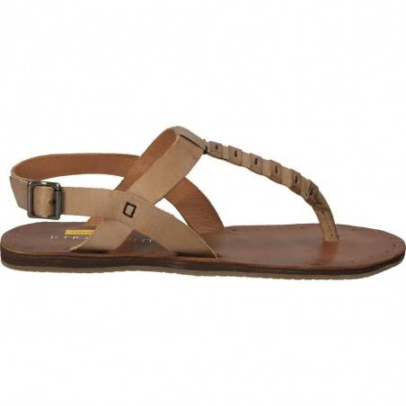 Sandale flip-flops, dama, gri, piele naturala