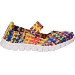 Pantofi Kammi, multicolori, împletiti, pentru femei