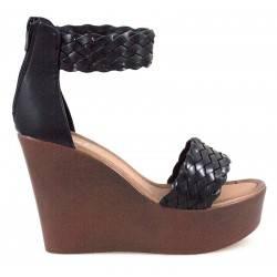 Sandale dama casual negru marca Fly For VGFJH2050N.MS