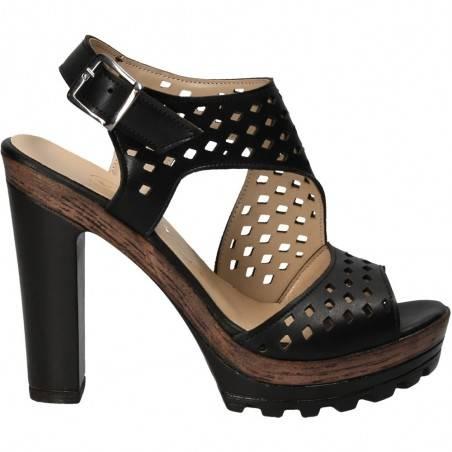 Sandale fashion de dama cu perforatii rombice