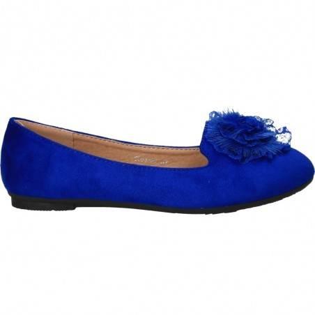 Balerini glamour, cu puf si dantela, culoarea albastru royal