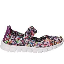 Pantofi multicolori, din material textil, marca Silvian Heach