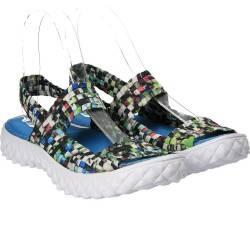 Sandale multicolor din material textil, marca Jay Peg
