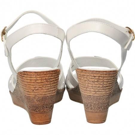 Sandale fashion, albe, Prima Donna, piele naturala