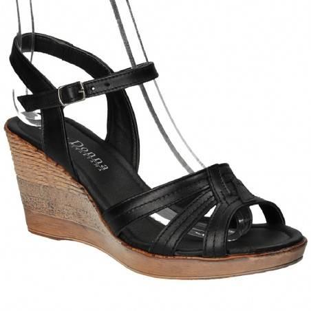 Sandale Prima Donna, din piele naturala, culoarea neagra