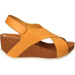 Sandale fashion galbene, Port er, piele ecologica