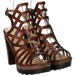 Sandale dama casual maro cu toc marca Ventes VGT501497ZM.BNB