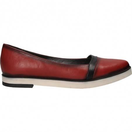 Pantofi Femei, piele, casual, rosu
