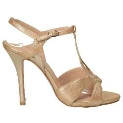 Sandale aurii glamour, de ocazie, cu toc