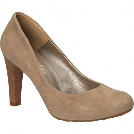 Pantofi cu toc, din velur, pentru femei