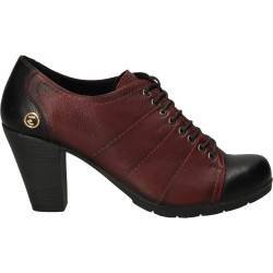 Pantofi cu toc robust, din piele naturala, marca Evida