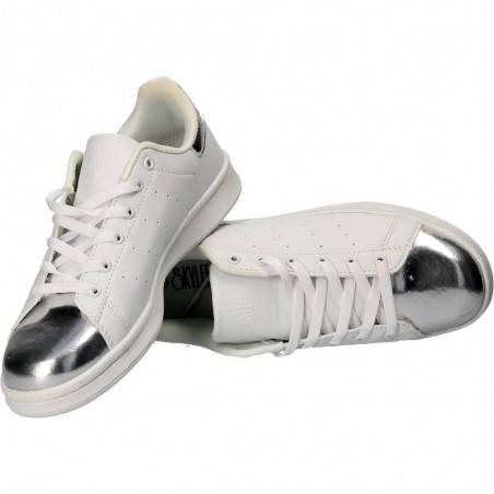 Pantofi Sport Femei alb cu argintiu